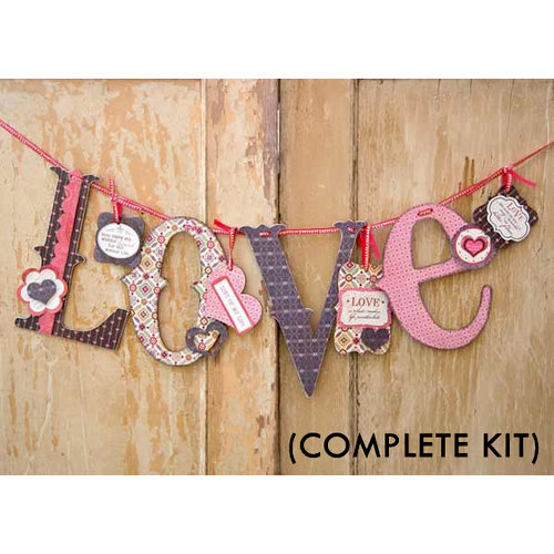 Carolee's Creations - Adornit - Love Letters Banner Complete Kit