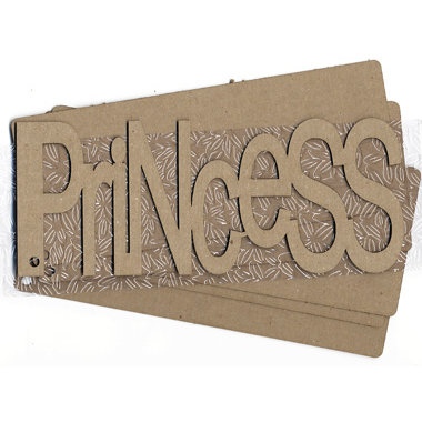 Carolee's Creations Adornit - Chipboard Album - Princess - with Tropical Textured Acrylic Skin, CLEARANCE