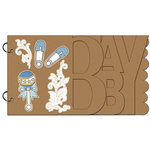 Carolee's Creations - Adornit - Baby Boy Collection - Wood Storybook - Baby Boy