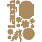 Carolee's Creations - Adornit - Bouquet Patches Collection - Wood Shapes - Laugh
