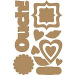 Carolee's Creations - Adornit - Ouch Collection - Wood Shapes - Ouch