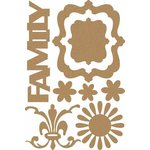 Carolee's Creations - Adornit - Capri Collection - Wood Shapes - Family