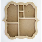 Carolee's Creations - Adornit - Wood Shop Project - Shaped Shadow Box - Bracket Bubble