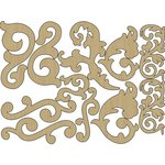 Carolee's Creations - Adornit - Wisteria Collection - Wood Shapes