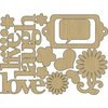 Carolee's Creations - Adornit - You and Me Collection - Wood Shapes - Live Laugh Love