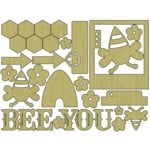 Carolee's Creations - Adornit - Bumble Collection - Wood Shapes - Bumble