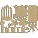 Carolee's Creations - Adornit - Home Tweet Home Collection - Wood Shapes - Tweet