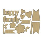Carolee's Creations - Adornit - Family Patchwork Collection - Wood Shapes - Family
