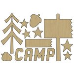 Carolee's Creations - Adornit - Happy Trails Collection - Wood Shapes