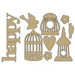 Carolee's Creations - Adornit - Rhapsody Bop Collection - Wood Shapes - Rhapsody