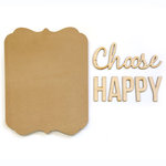 Carolee's Creations - Adornit - Bare Wood Sets - Word Plaque - Choose Happy