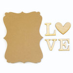 Carolee's Creations - Adornit - Bare Wood Sets - Word Plaque - Love
