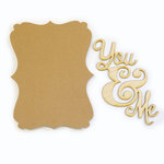 Carolee's Creations - Adornit - Bare Wood Sets - Word Plaque - You and Me