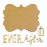 Carolee's Creations - Adornit - Bare Wood Sets - Word Plaque- Ever After