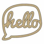Carolee's Creations - Adornit - Wood Chat Bubble - Hello