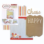Carolee's Creations - Adornit - Art Play Kit - Wood Word Plaque - Choose Happy