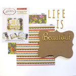 Carolee's Creations - Adornit - Art Play Kit - Wood Word Plaque - Life is Beautiful