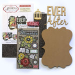 Carolee's Creations - Adornit - Art Play Kit - Wood Word Plaque - Ever After