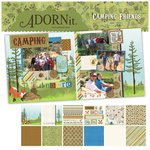 Carolee's Creations - Adornit - Camping Friends Collection - 12 x 12 Paper Pack