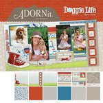 Carolee's Creations - Adornit - Doggie Life Collection - 12 x 12 Paper Pack