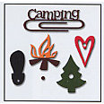 Carolee's Creations Adornit - Back 2 Nature Collection - Metal Accents - Camping