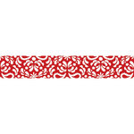 Carolee's Creations - Adornit - Nested Owls Charcoal Collection - Ribbon - Damask - Red
