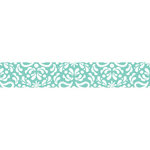 Carolee's Creations - Adornit - Nested Owls Coral Collection - Ribbon - Damask - Aqua