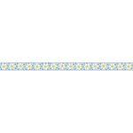 Carolee's Creations - Adornit - Wild Flower Collection - Ribbon - Daisy Row - Light Blue