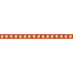 Carolee's Creations - Adornit - Wild Flower Collection - Ribbon - Daisy Row - Red