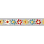 Carolee's Creations - Adornit - Wild Flower Collection - Ribbon - Daisy Pop - Gray