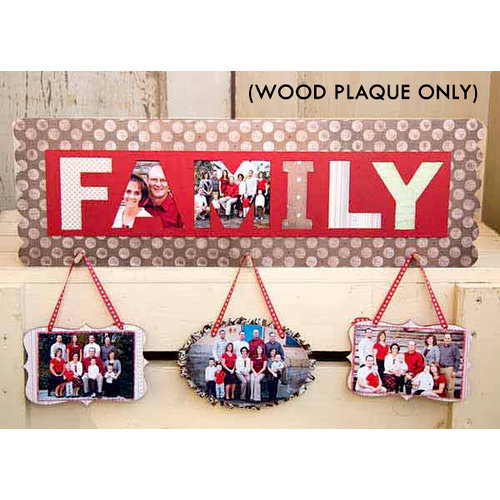 Carolee's Creations - Adornit - Family Photo Plaque Only