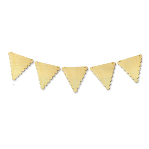 Carolee's Creations - Adornit - Wood Decor Collection - Scallop Banner, CLEARANCE