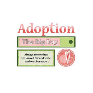 Carolee's Creations - Die Cut Accents - Adoption Girl