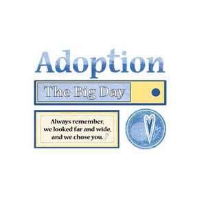 Carolee's Creations - Die Cut Accents - Adoption Boy