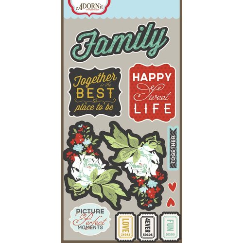 Carolee's Creations - Adornit - Forever Family Collection - Die Cut Cardstock Shapes - Family Reflection