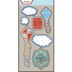Carolee's Creations - Adornit - Time Flies Collection - Die Cut Cardstock Shapes - Happy Kites