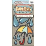 Carolee's Creations - Adornit - Rainy Days and Sunshine Collection - Die Cut Cardstock Shapes - Rain Go Away