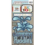 Carolee's Creations - Adornit - Rainy Days and Sunshine Collection - Die Cut Cardstock Shapes - Jumping Puddles
