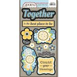 Carolee's Creations - Adornit - Family Patchwork Collection - Die Cut Cardstock Shapes - Blessings