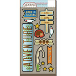 Carolee's Creations - Adornit - Happy Trails Collection - Die Cut Cardstock Shapes - Camp Adventure
