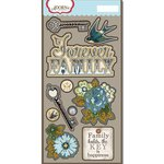 Carolee's Creations - Adornit - Wisteria Collection - Die Cut Cardstock Shapes