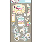 Carolee's Creations - Adornit - Rhapsody Bop Collection - Die Cut Cardstock Shapes - Happy Day
