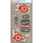 Carolee's Creations - Adornit - You and Me Collection - Die Cut Cardstock Shapes - You and Me