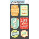 Carolee's Creations - Adornit - Kaleidoscope Collection - Die Cut Cardstock Shapes - Hello Life