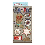 Carolee's Creations - Adornit - Yeehaw Collection - Die Cut Cardstock Shapes - Cowboy