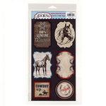 Carolee's Creations - Adornit - Yeehaw Collection - Die Cut Cardstock Shapes - Western