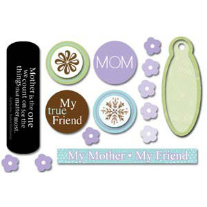 Carolee's Creations Adornit - Mother Collection - Foam Stickers - Mother Expressions, CLEARANCE