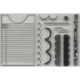 Carolee's Creations Adornit - Stick 'Em Stamps - Clear Acrylic Stamps - Scallop Border