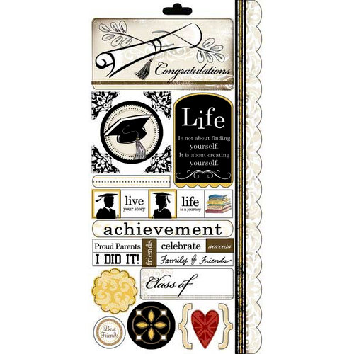 Carolee's Creations - Adornit - Graduation Collection - Cardstock Stickers - Graduation