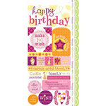 Carolee's Creations - Adornit - Girl Birthday Collection - Cardstock Stickers - Girly Wishes